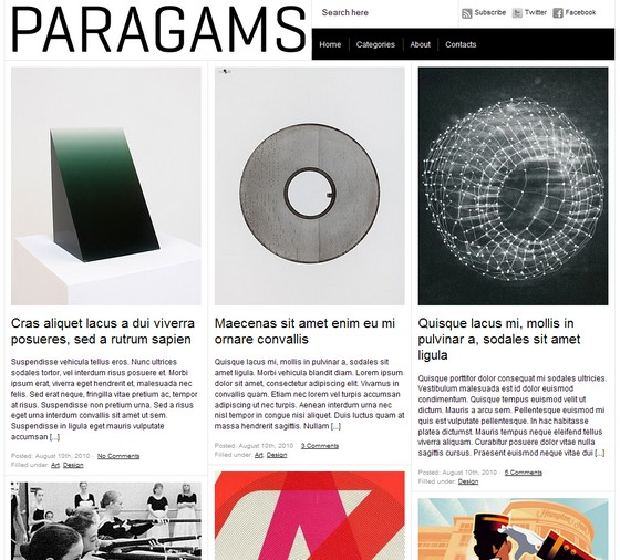 Тема paragrams для wordpress