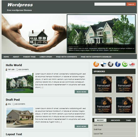Тема для wordpress Realtypress