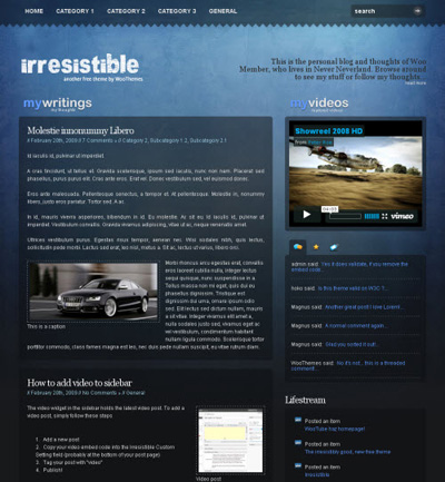 Тема Irresistible для wordpress