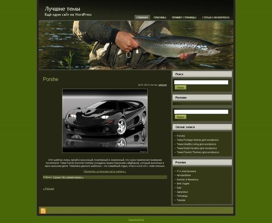 Тема Salmon Fishing для wordpress