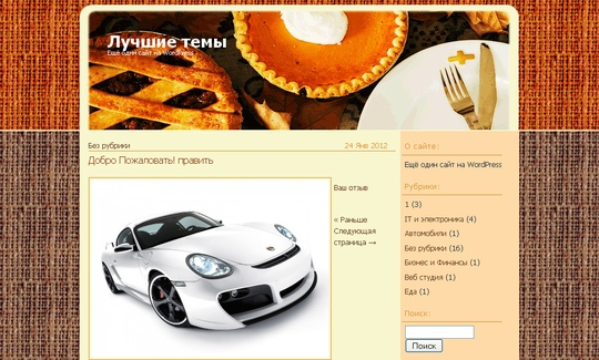 Тема Simple Recipes для wordpress