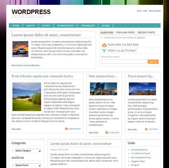 Тема Urbane для wordpress