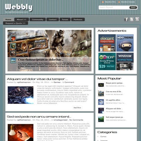 Тема Webly для wordpress