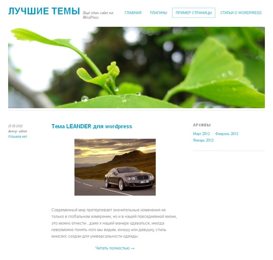 Тема Yoko для wordpress