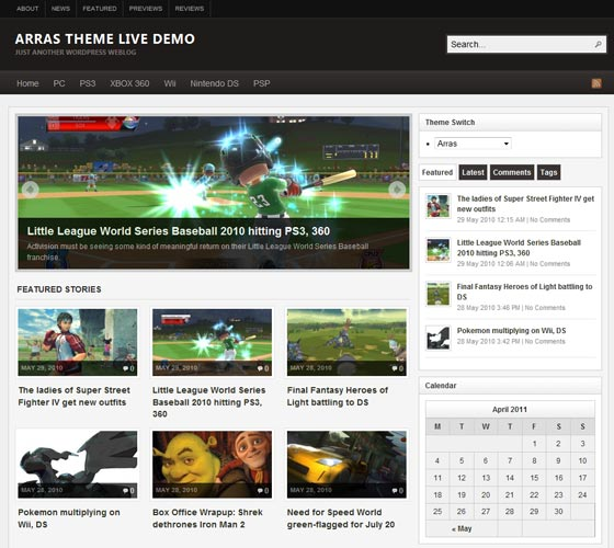 Тема Arras Theme  для wordpress