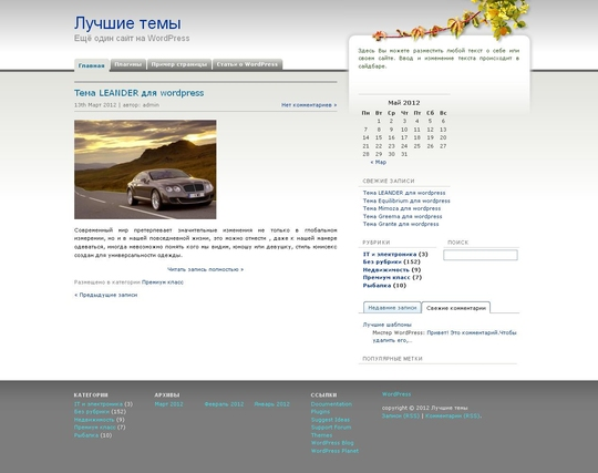 Тема inBiz для wordpress