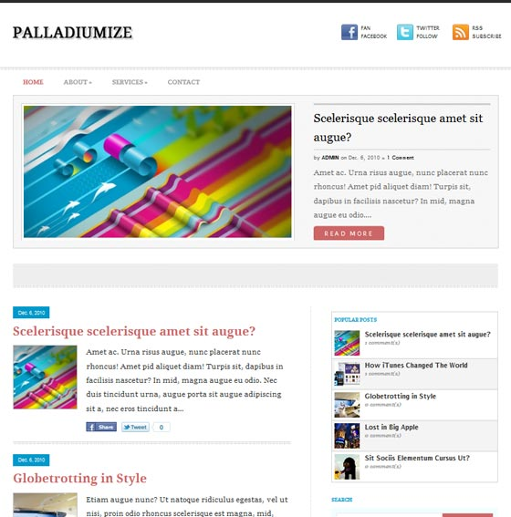 Тема Palladiumize для wordpress