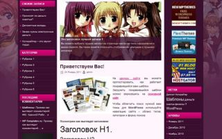 Тема IAnime для wordpress