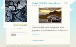 Тема PolaroidPress для wordpress