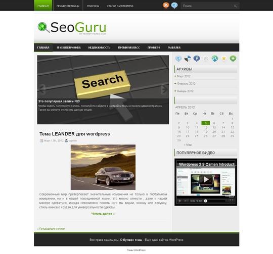 Тема SeoGuru  для wordpress