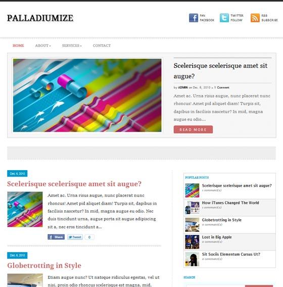 Тема Palladiumize для wordpress